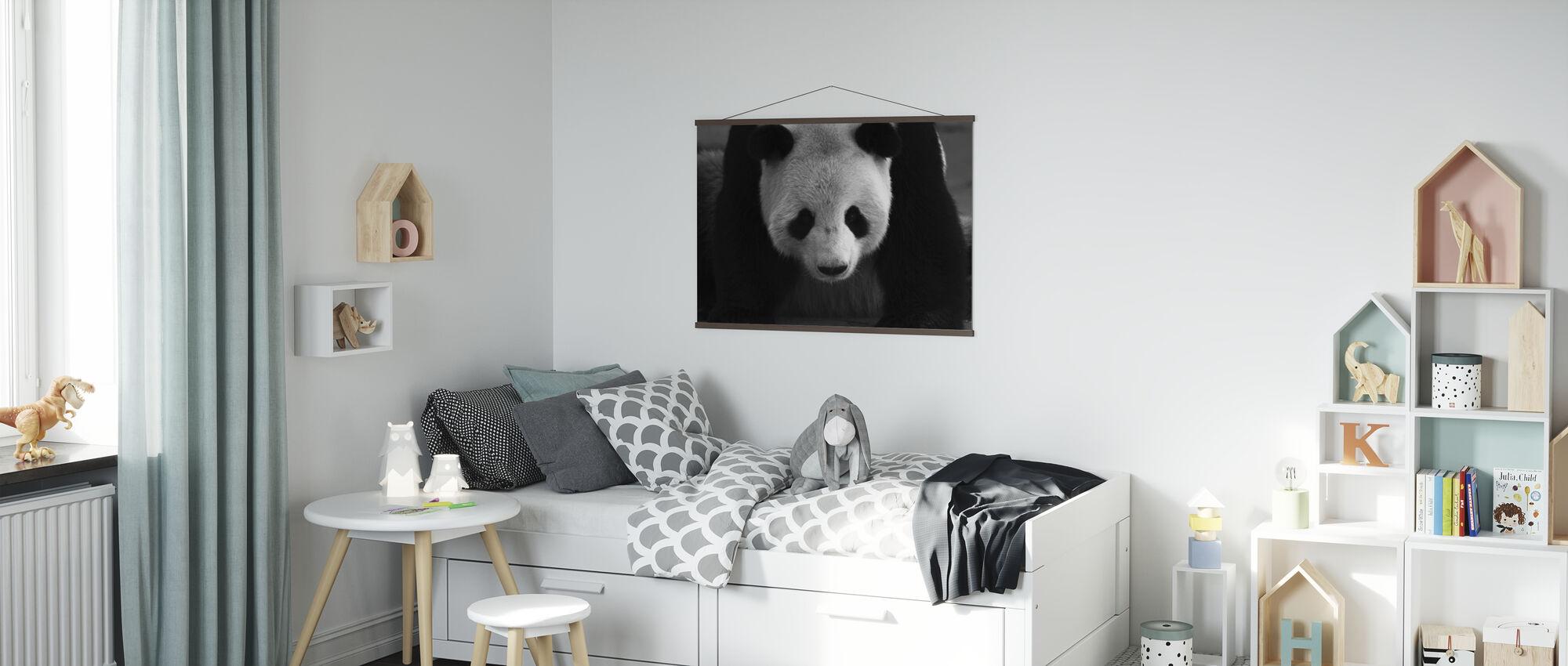 Panda géant - Affiche - Chambre des enfants