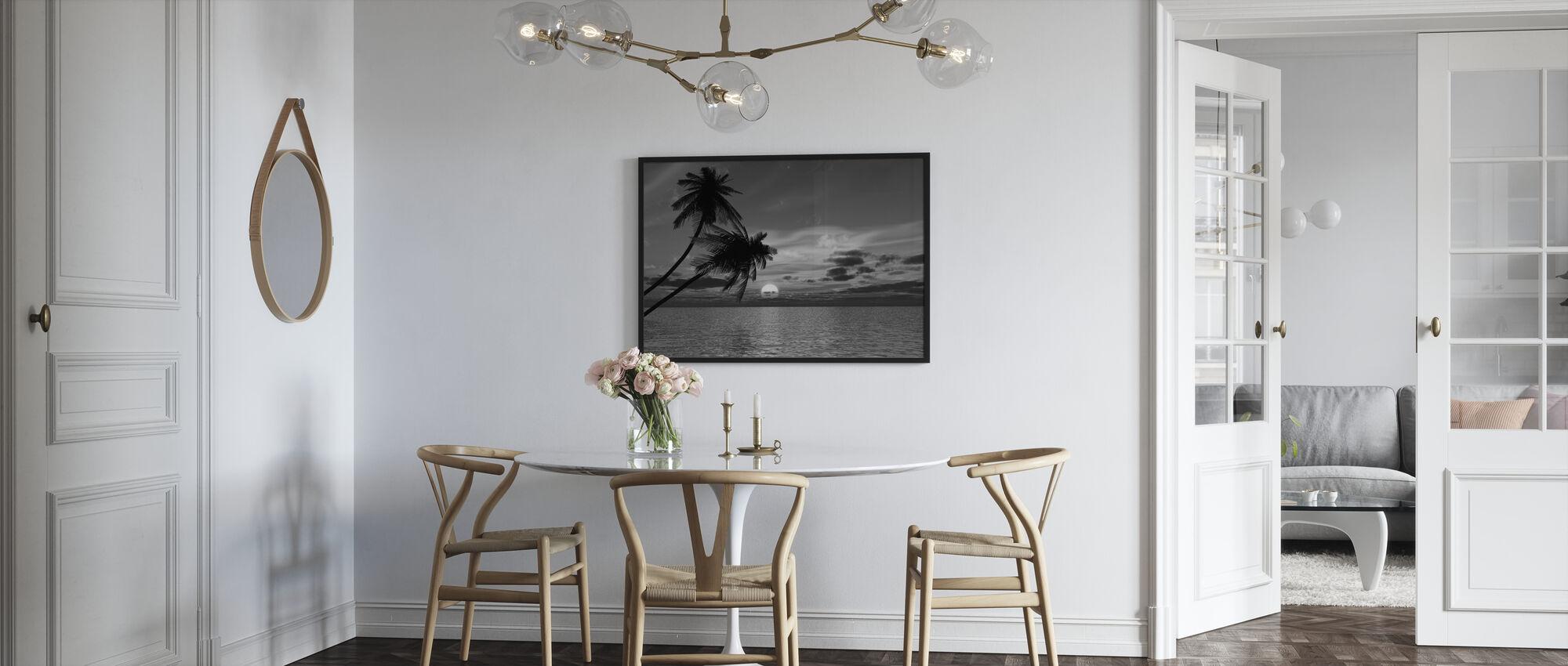Kokospalme Sonne - Poster - Küchen