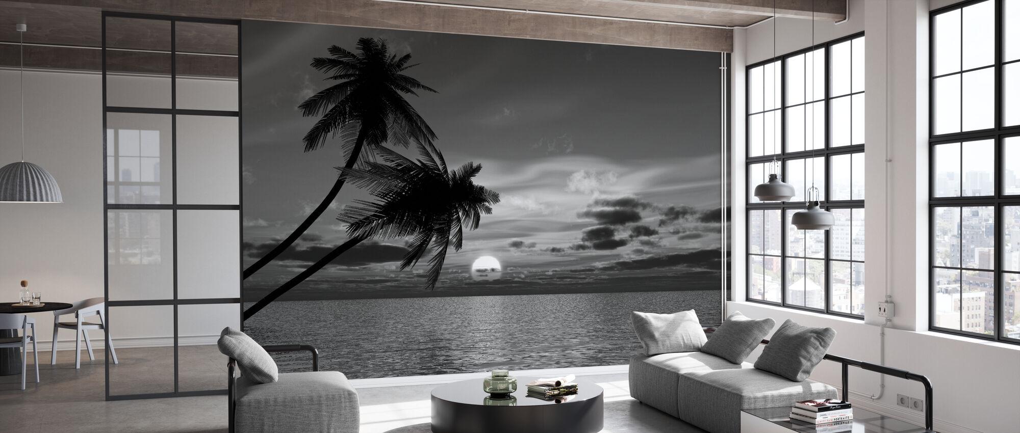 Kokos Palm Sol - Tapet - Kontor