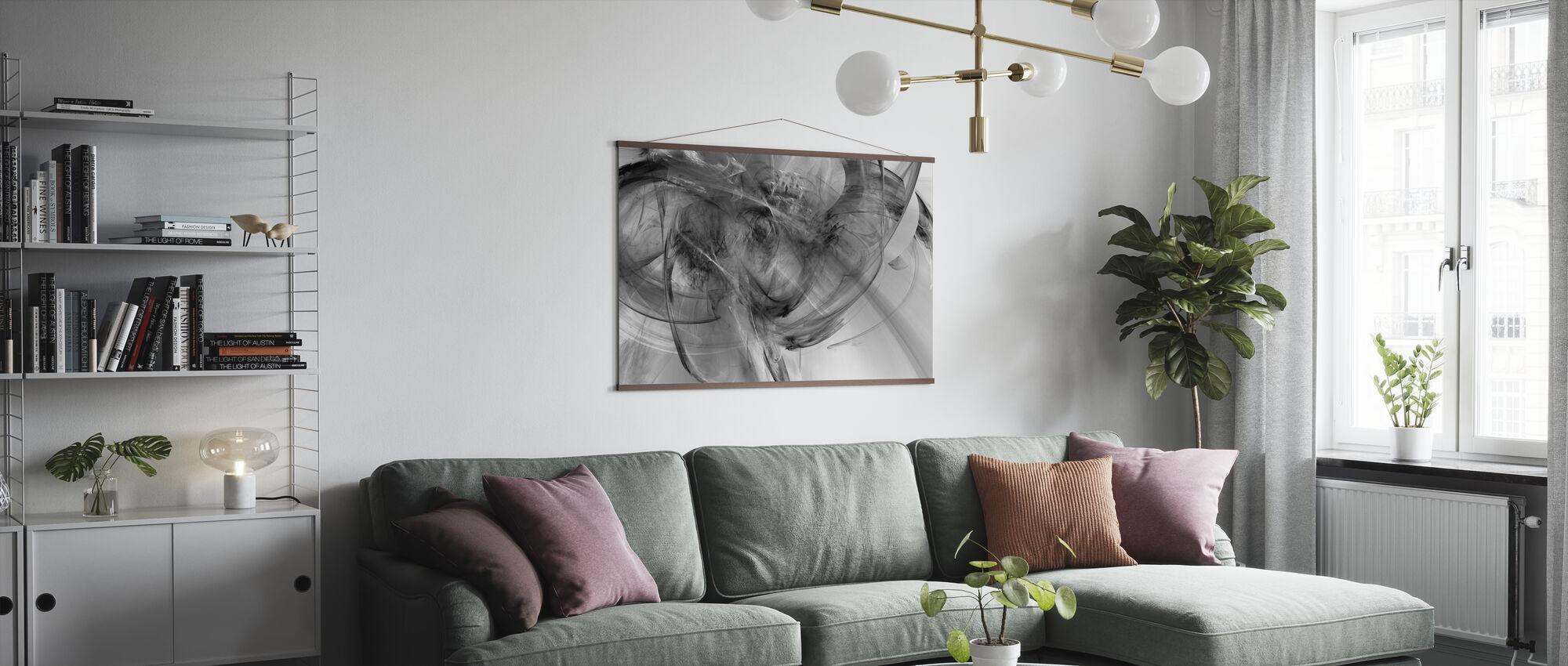 Rosa hytte - Plakat - Stue