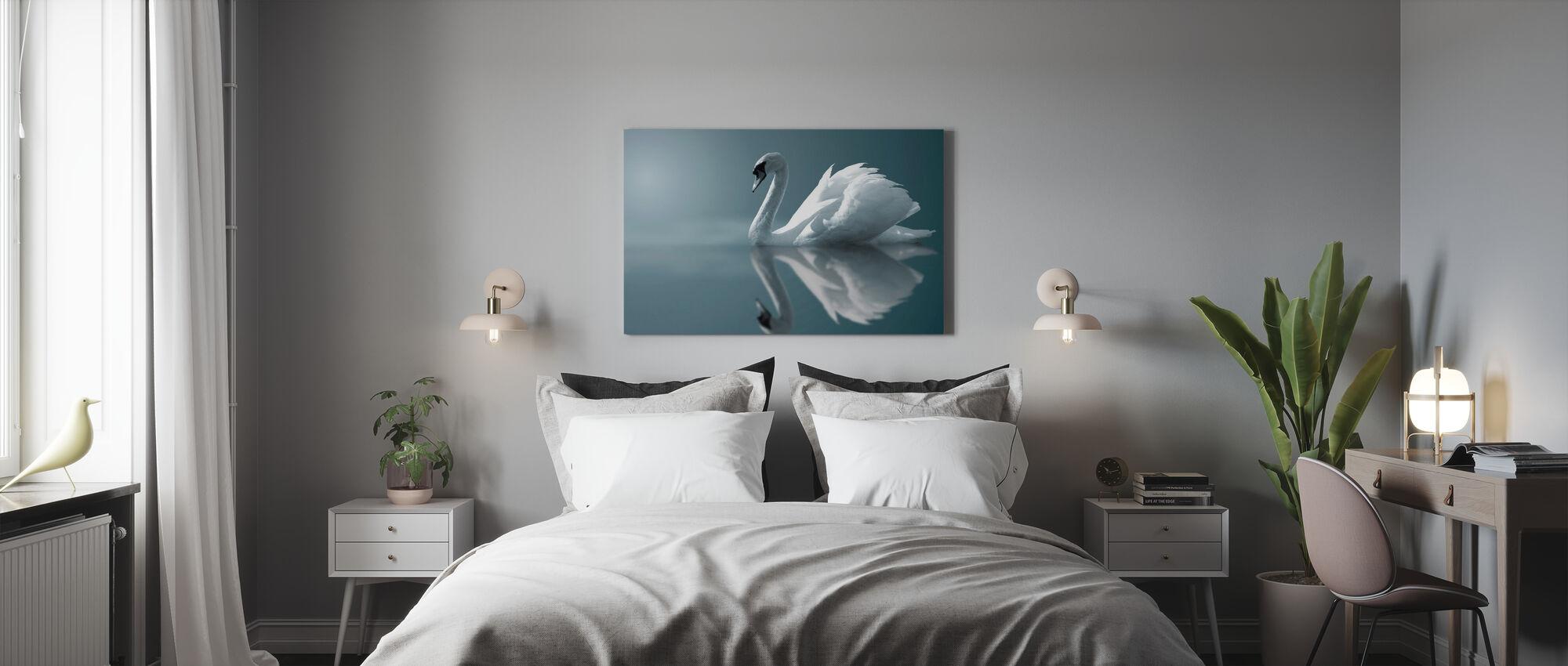 Schwan Reflexion - Leinwandbild - Schlafzimmer