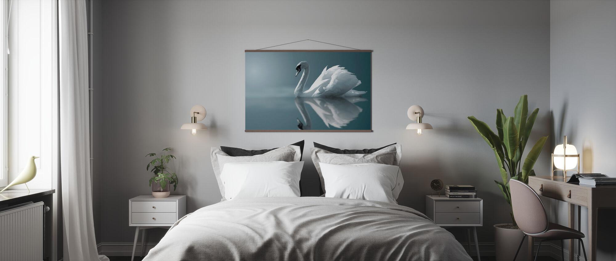 Schwan Reflexion - Poster - Schlafzimmer