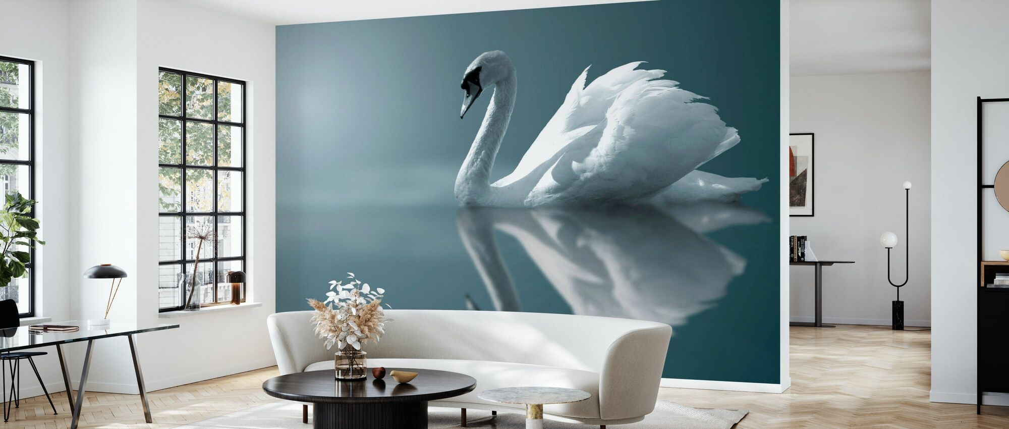 Swan Reflektion - Tapet - Vardagsrum