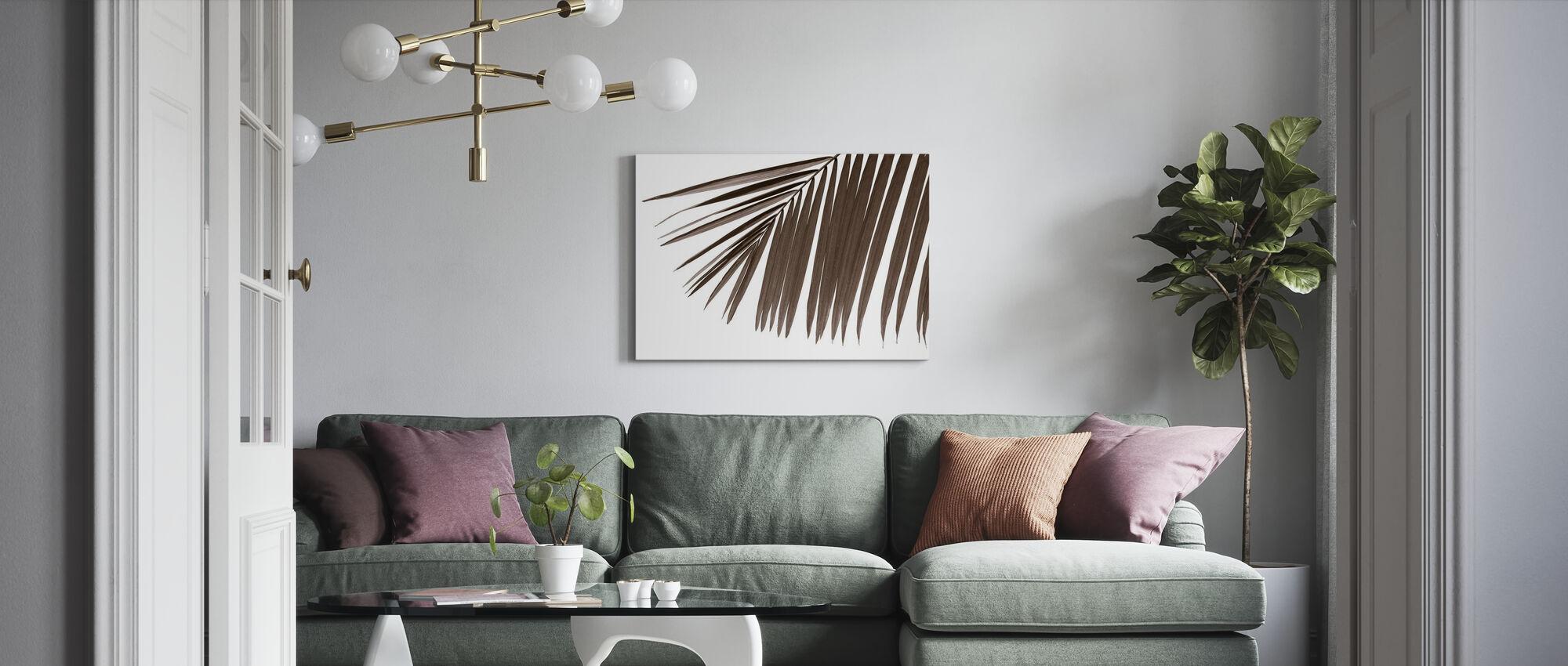 Palm Leaves - Sepia - Canvas print - Living Room