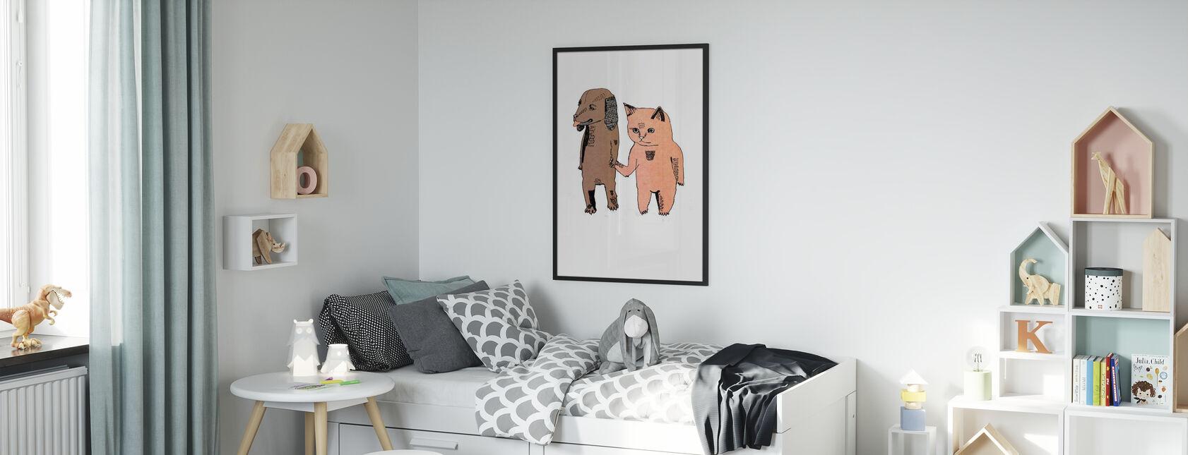 Gatto e Cane - Poster - Camera dei bambini