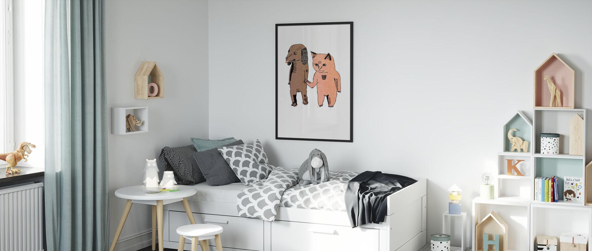 Katze und Hund - Poster - Kinderzimmer