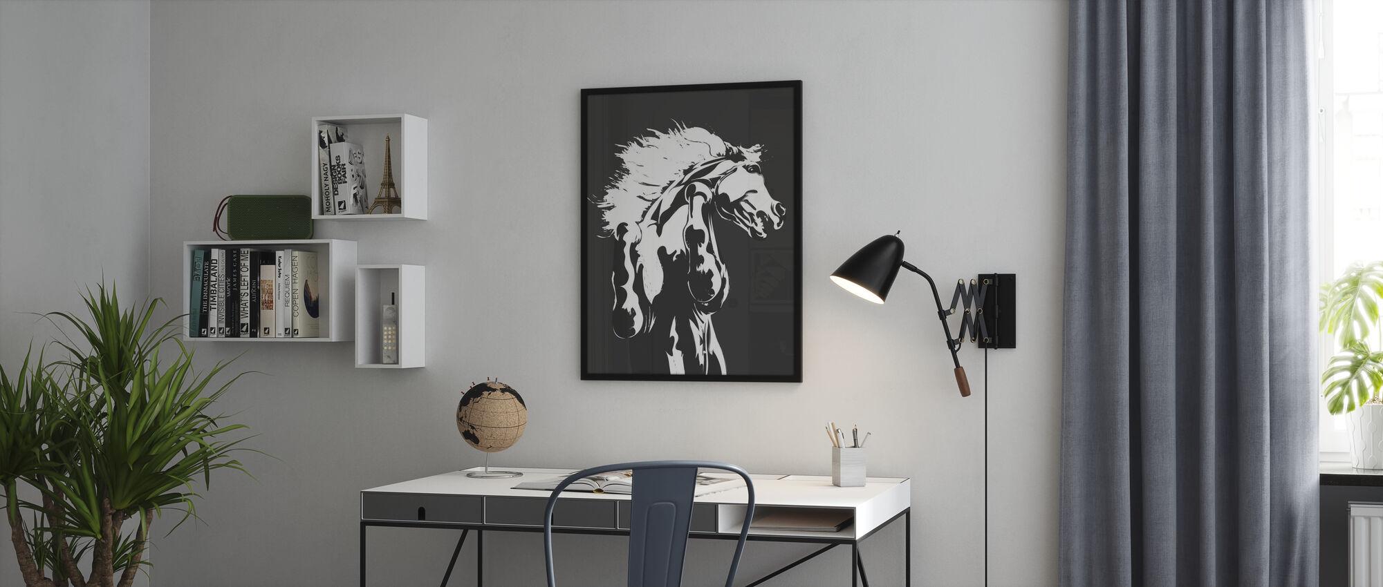 Never Tamed - Dark Grey - Poster - Office