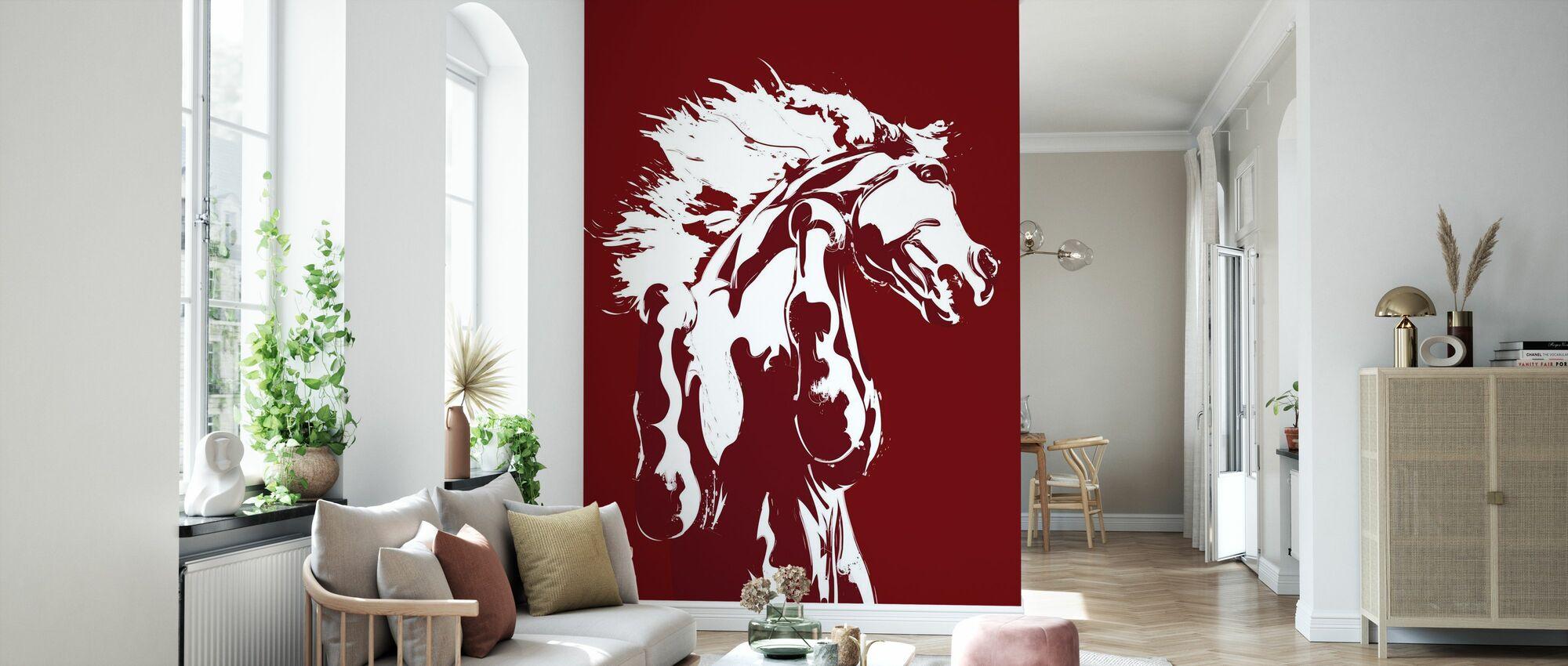 Nunca domesticado - Rojo - Papel pintado - Salón