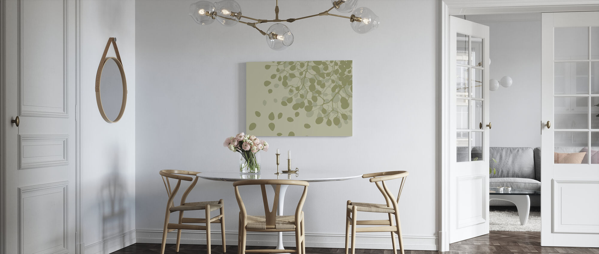 Birch - Spring - Canvas print - Kitchen