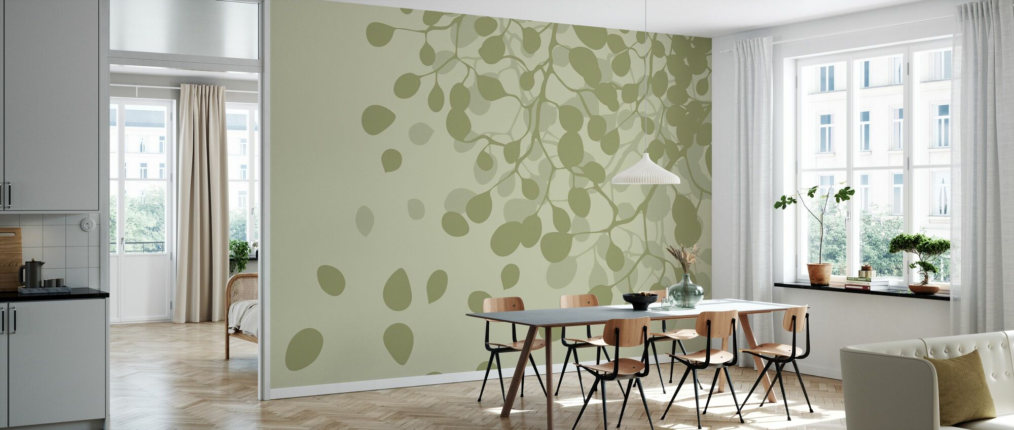 Birch - Spring - Wallpaper - Kitchen