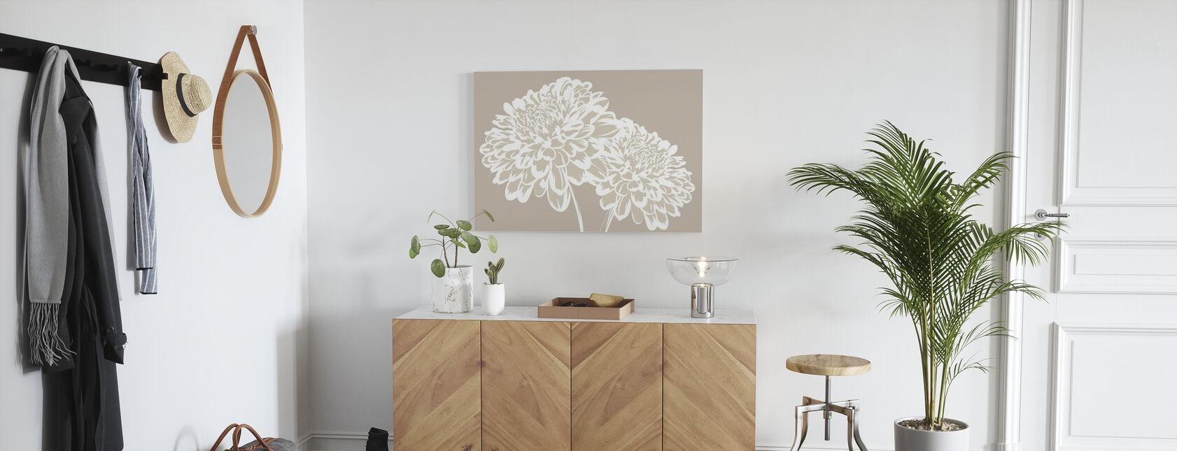 Blossom my Heart - Light Beige - Canvas print - Hallway