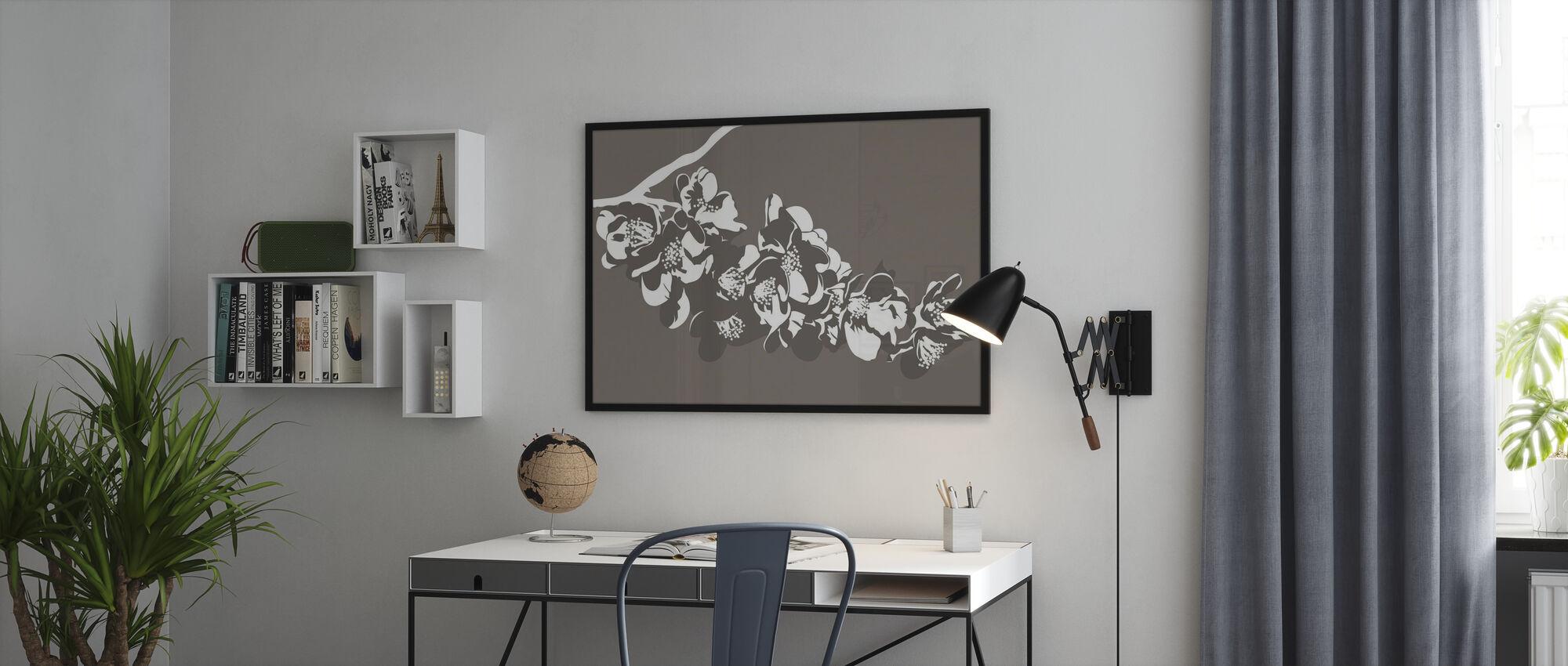 Flora - Marron - Affiche - Bureau