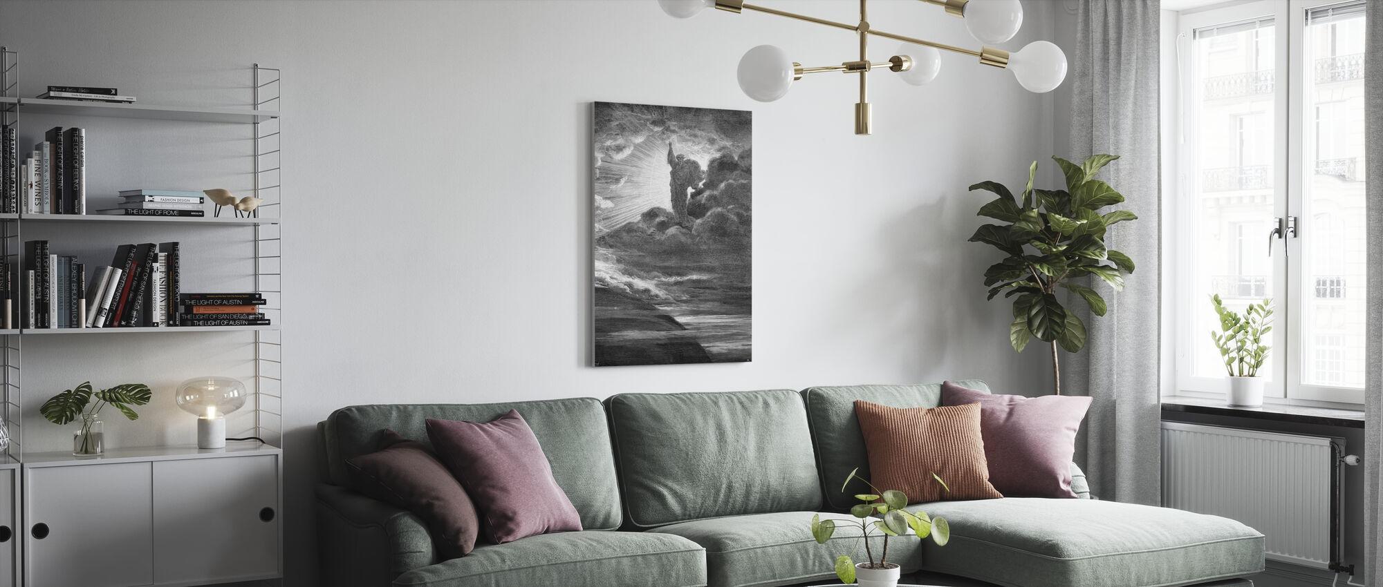 Skapelsen - Gustave Dore - Canvas print - Living Room