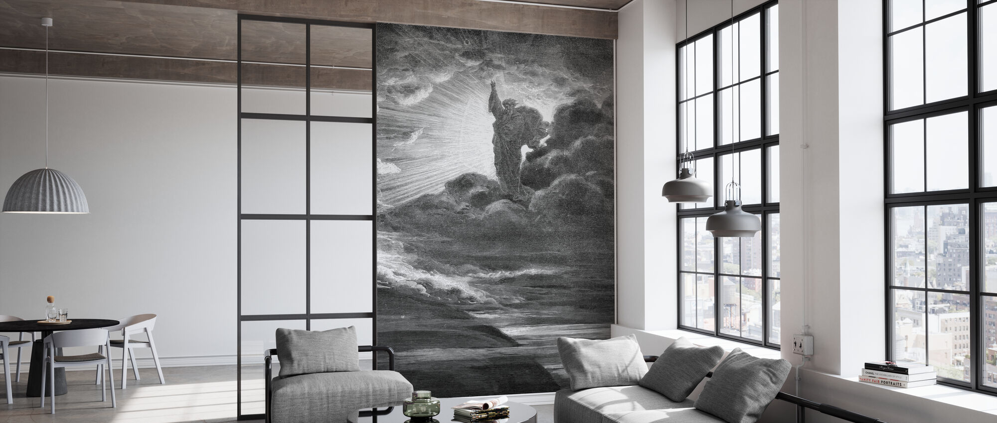 Skapelsen - Gustave Dore - Behang - Kantoor