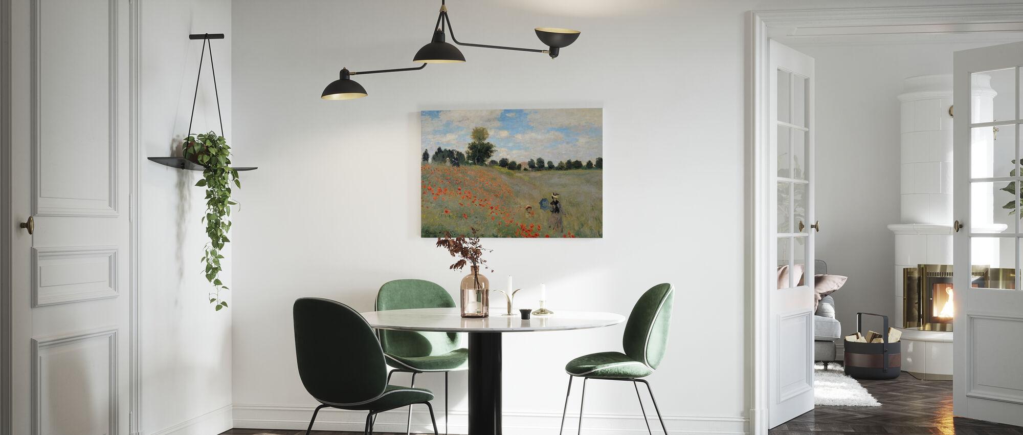 Wild Poppies - Claude Monet - Canvas print - Kitchen