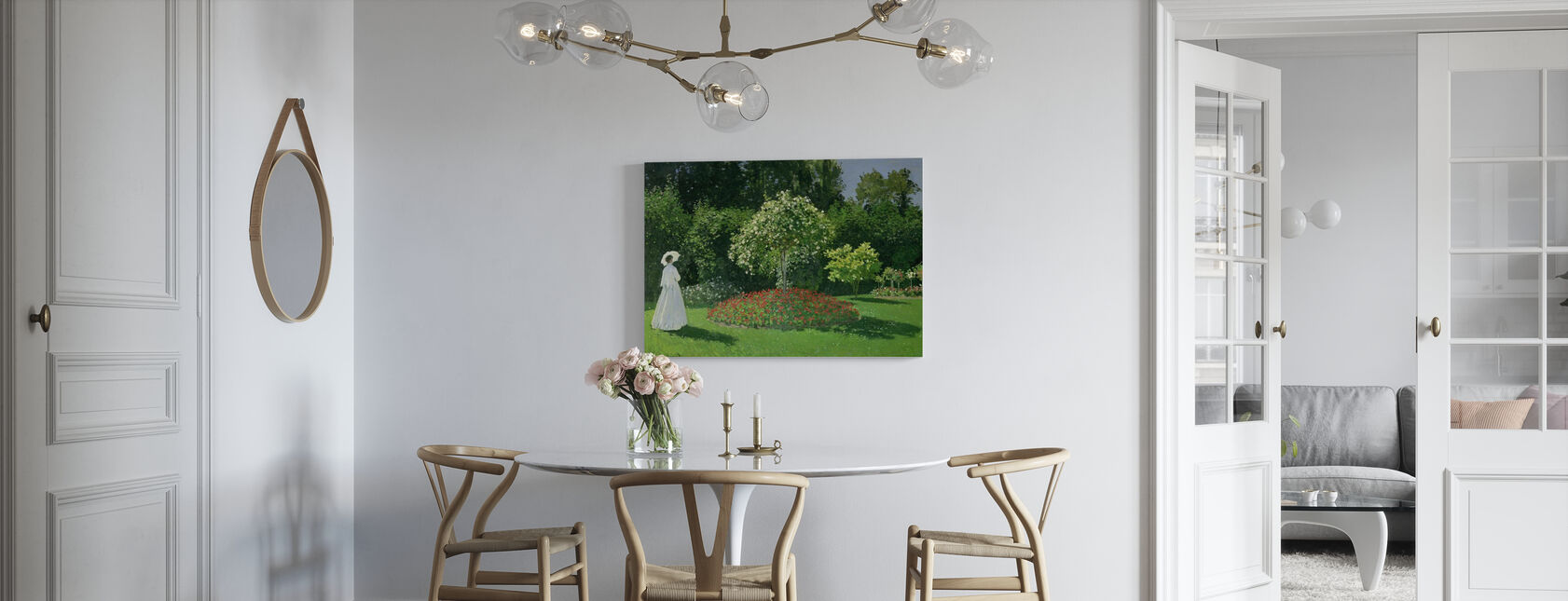 Vrouw in een tuin - Claude Monet - Canvas print - Keuken