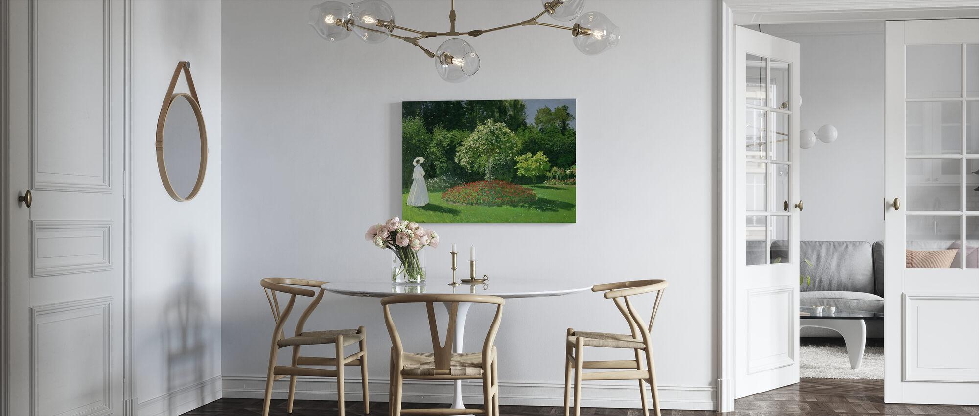 Kvinde i en have - Claude Monet - Billede på lærred - Køkken