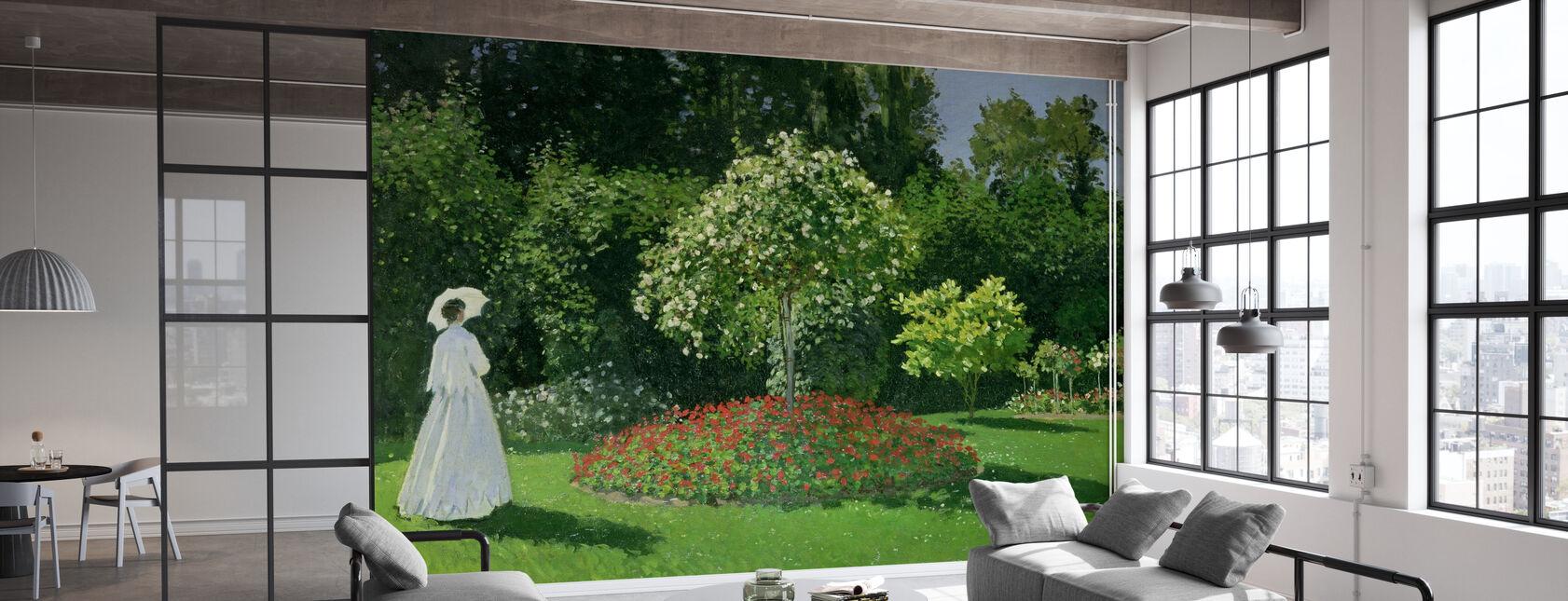 Femme dans un jardin - Claude Monet - Papier peint - Bureau