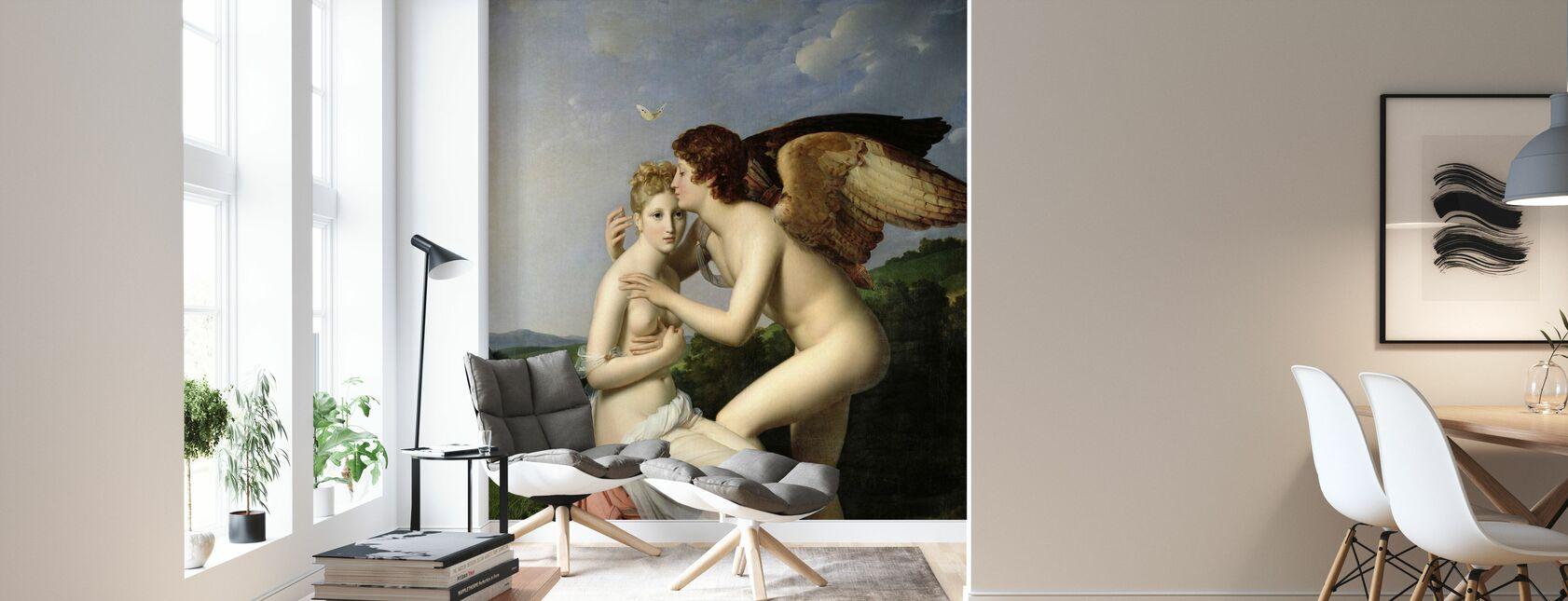 Premier Kiss de Cupidon - François Pascal Gérard - Papier peint - Salle à manger