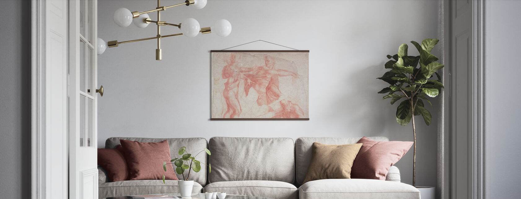 Studies of Male Nudes - Michelangelo Buonarroti - Poster - Living Room