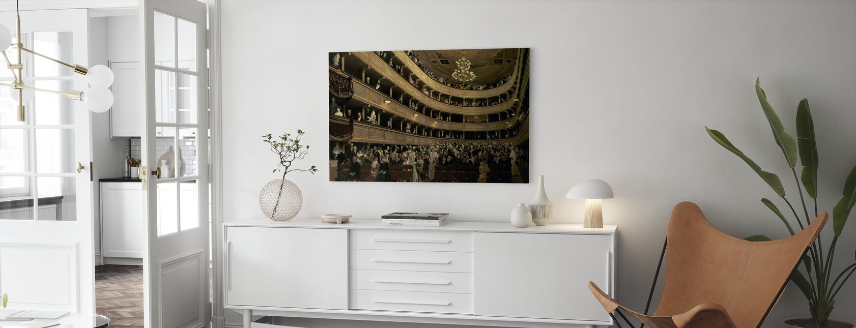 Alte Burg Theater - Gustav Klimt - Leinwandbild - Wohnzimmer