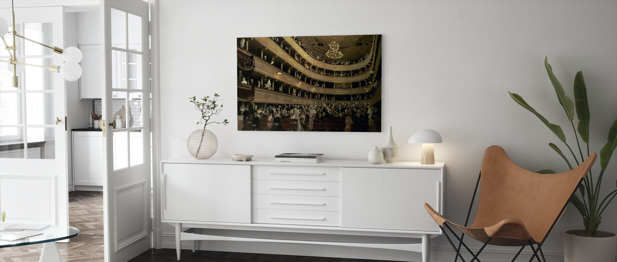 Old Castle Theatre - Gustav Klimt - Canvas print - Living Room