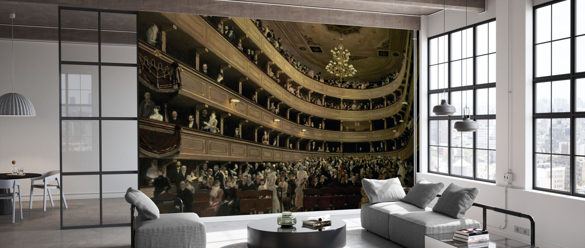 Old Castle Theatre - Gustav Klimt - Wallpaper - Office