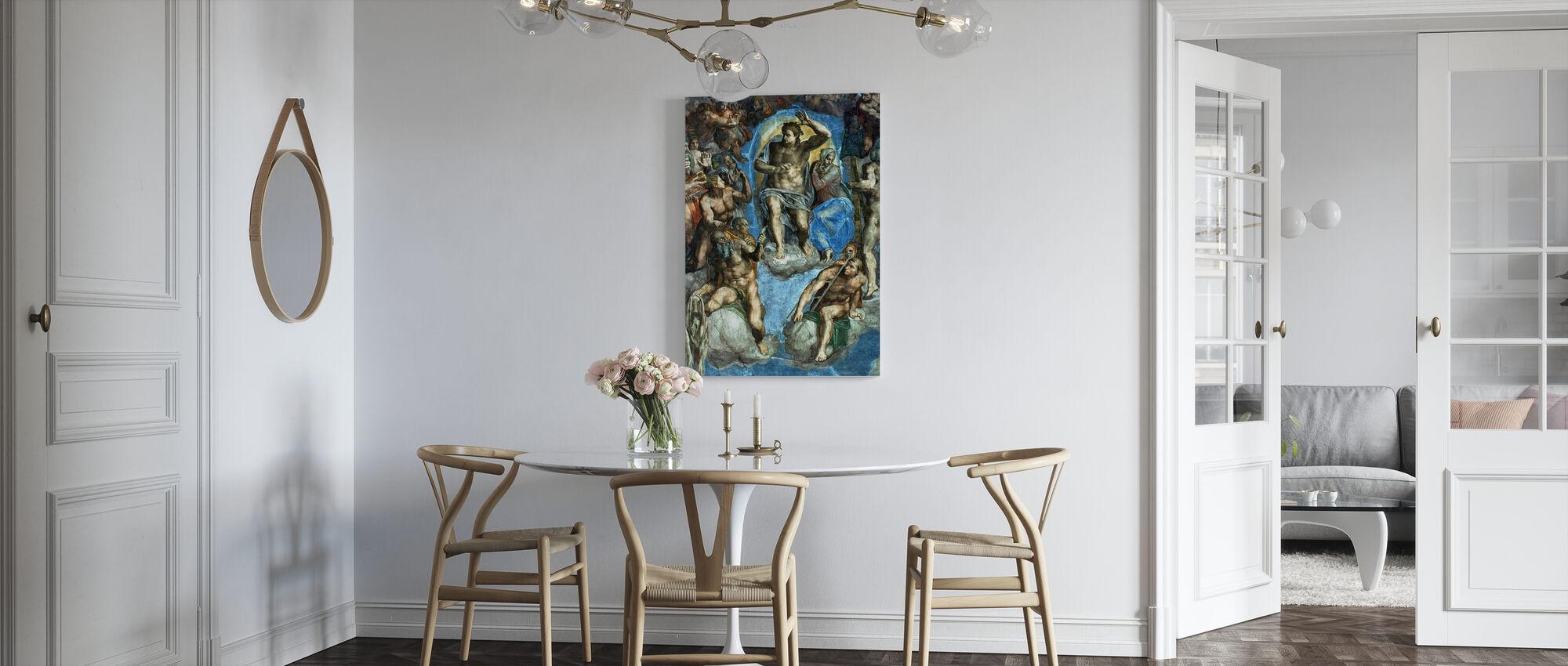 Jugement dernier - Michelangelo Buonarroti - Impression sur toile - Cuisine