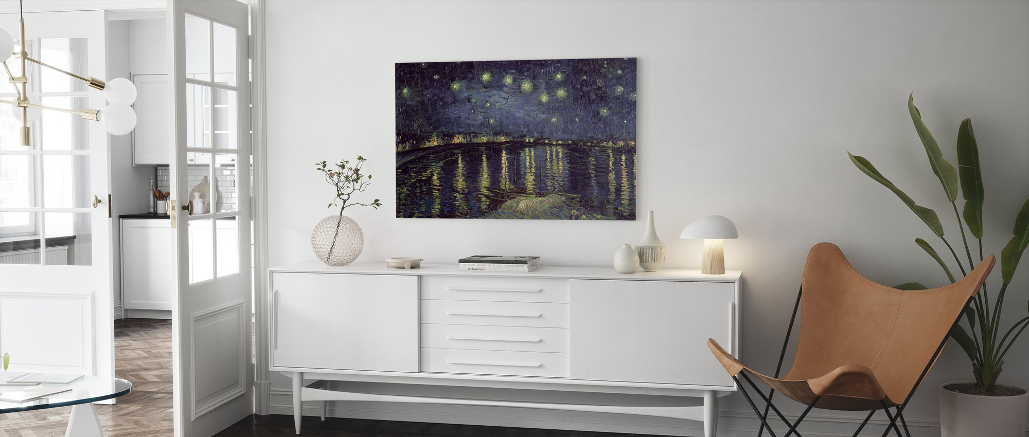 Starry Night - Vincent van Gogh - Canvastaulu - Olohuone