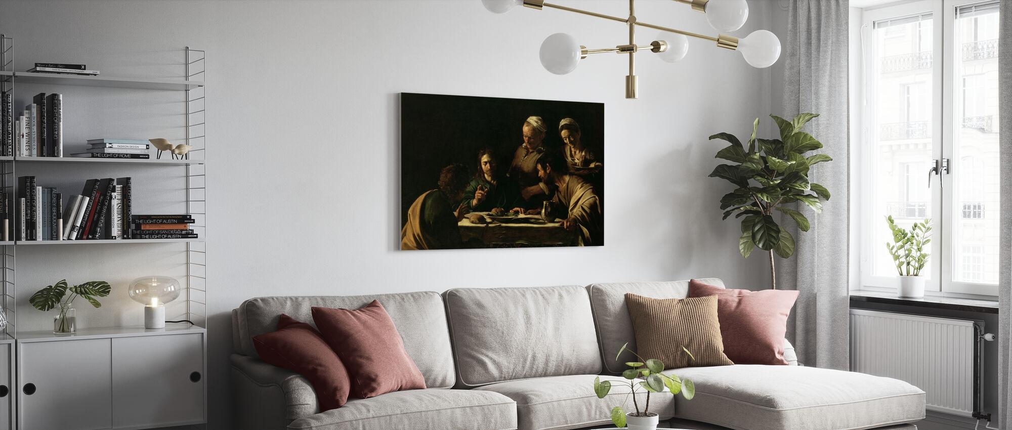 Cène à Emmaüs - Michel-Ange Caravaggio - Impression sur toile - Salle à manger