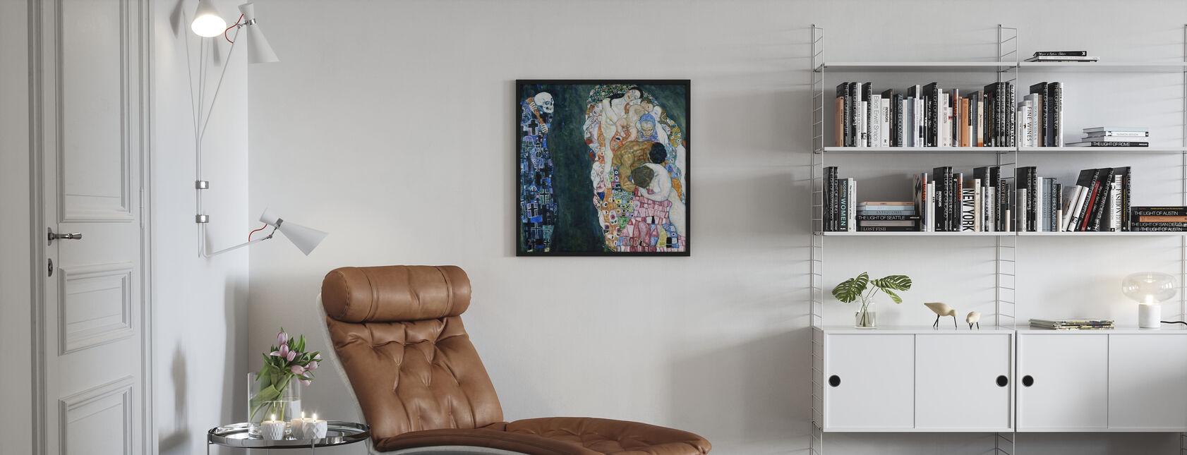 Morte e Vita - Gustav Klimt - Poster - Salotto