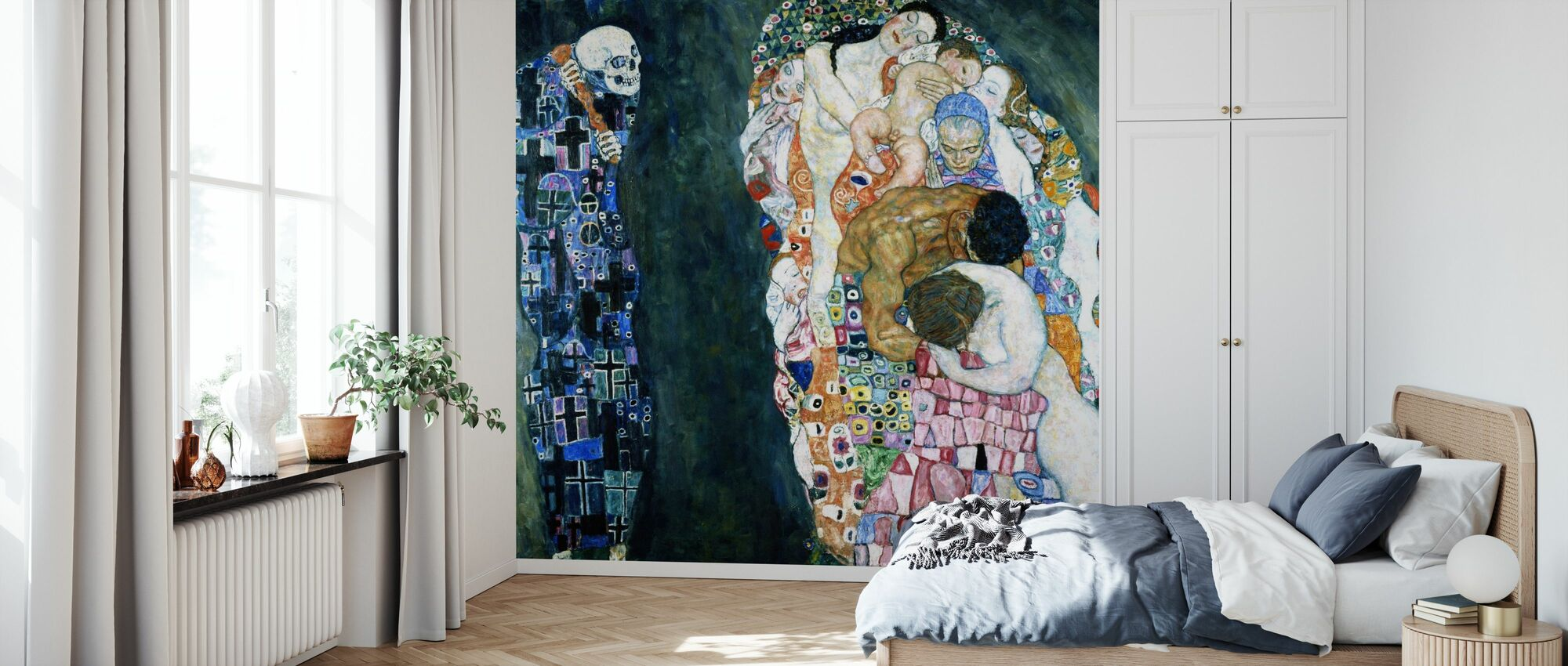 Død og liv - Gustav Klimt - Tapet - Soverom