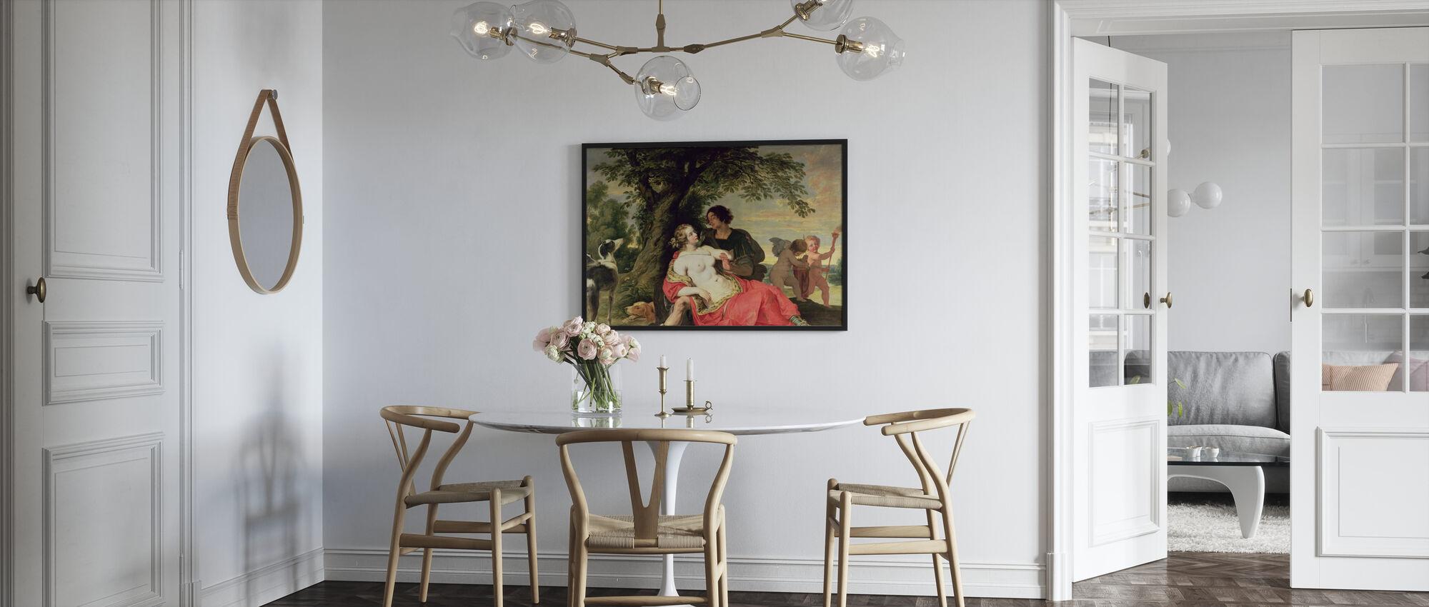 Venus und Adonis - Abraham Janssens - Poster - Küchen