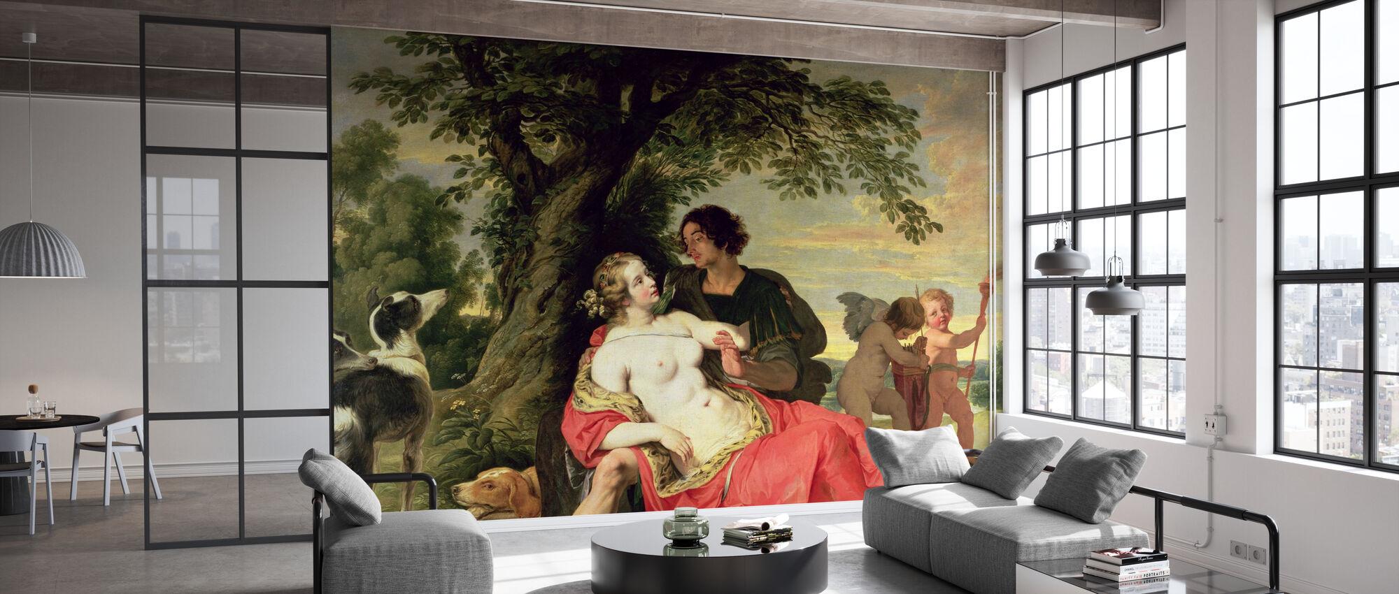 Venus und Adonis - Abraham Janssens - Tapete - Büro