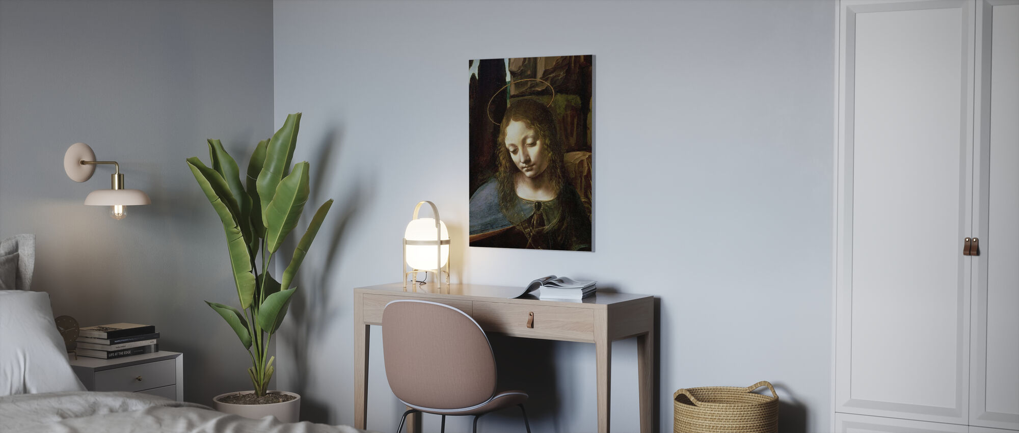 Virgin of the Rocks - Leonardo da Vinci - Canvas print - Office