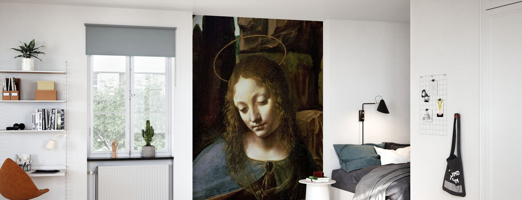 Virgin of the Rocks - Leonardo da Vinci - Wallpaper - Kids Room