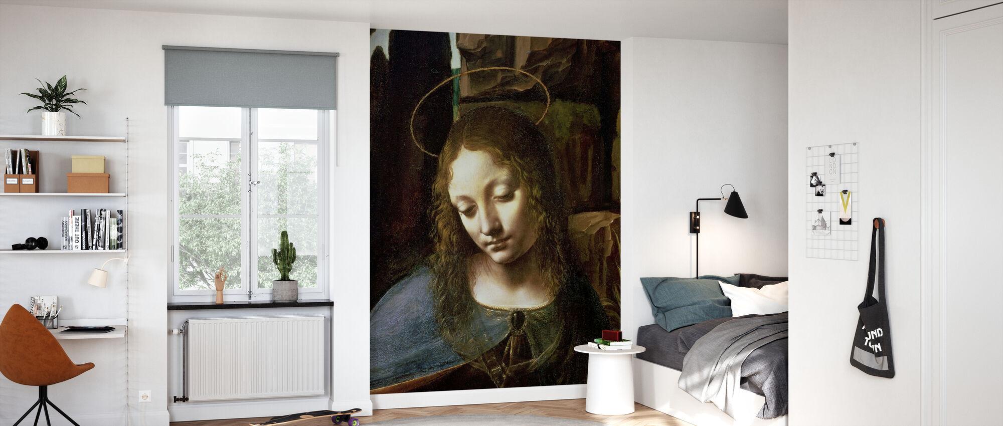 Virgin of the Rocks - Leonardo da Vinci - Wallpaper - Kids Room