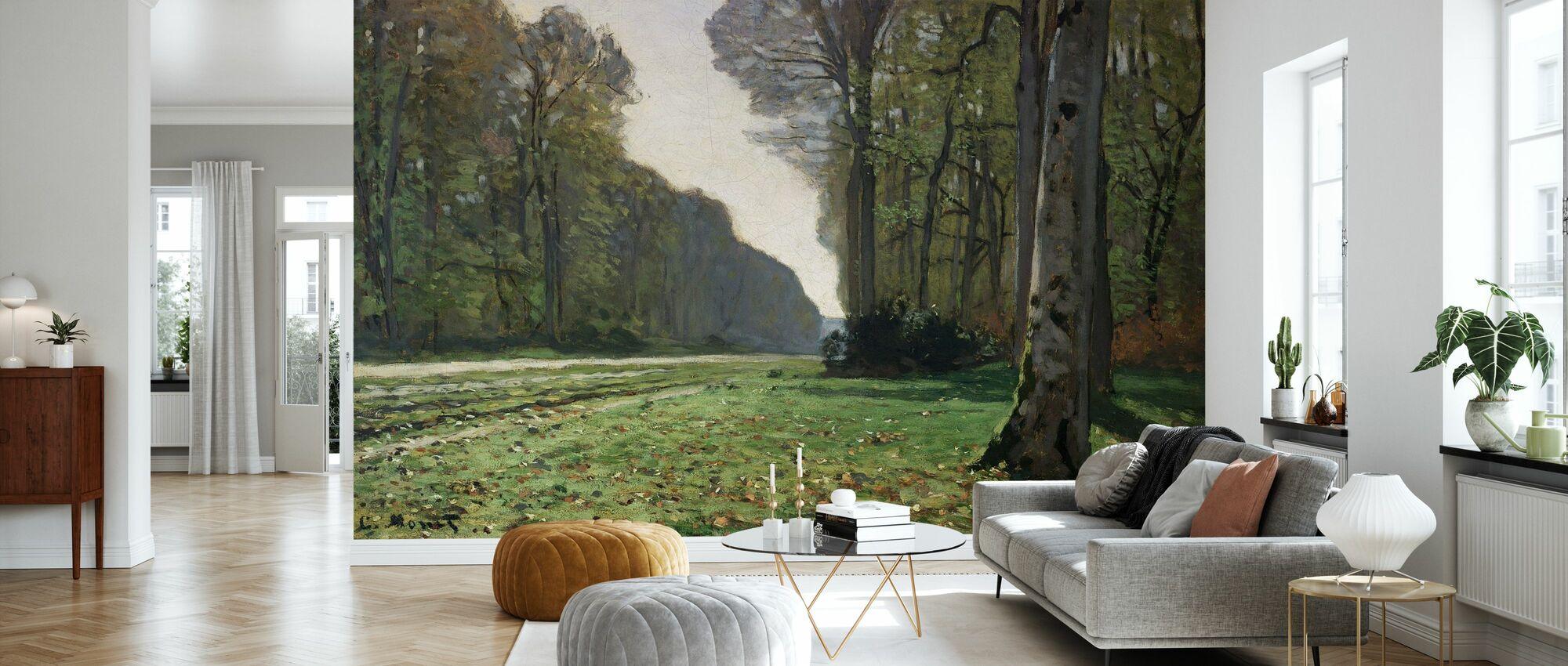 Fontainebleau - Claude Monet - Behang - Woonkamer