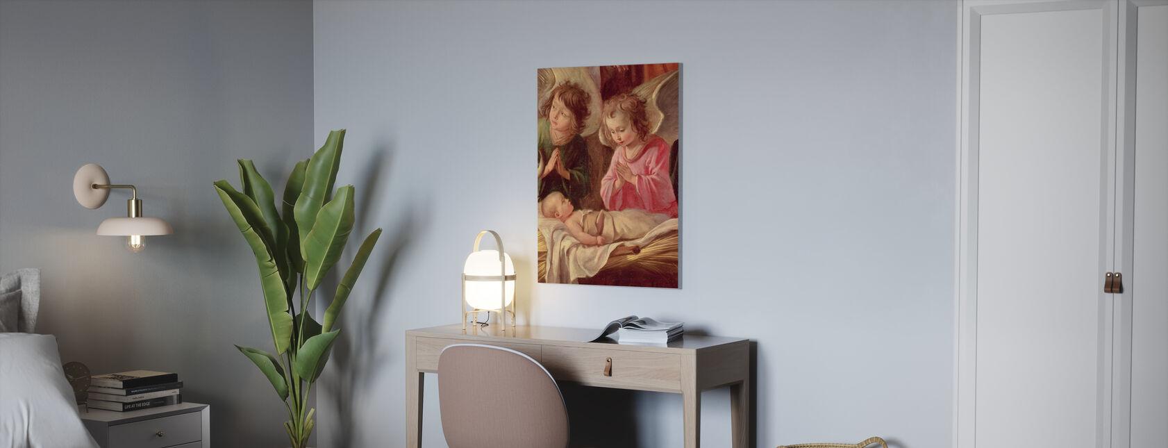 Paimenten ihailusta - Antoine Le Nai - Canvastaulu - Toimisto