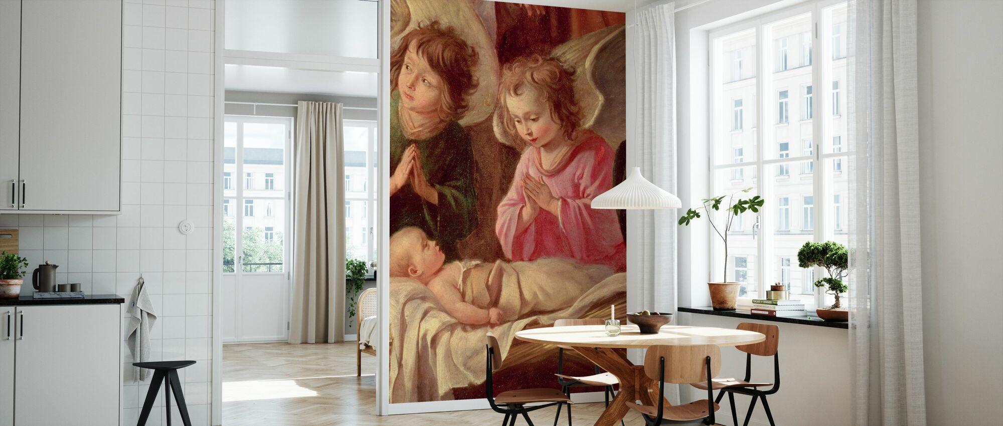 Adoration of the Shepherds - Antoine Le Nain - Wallpaper - Kitchen