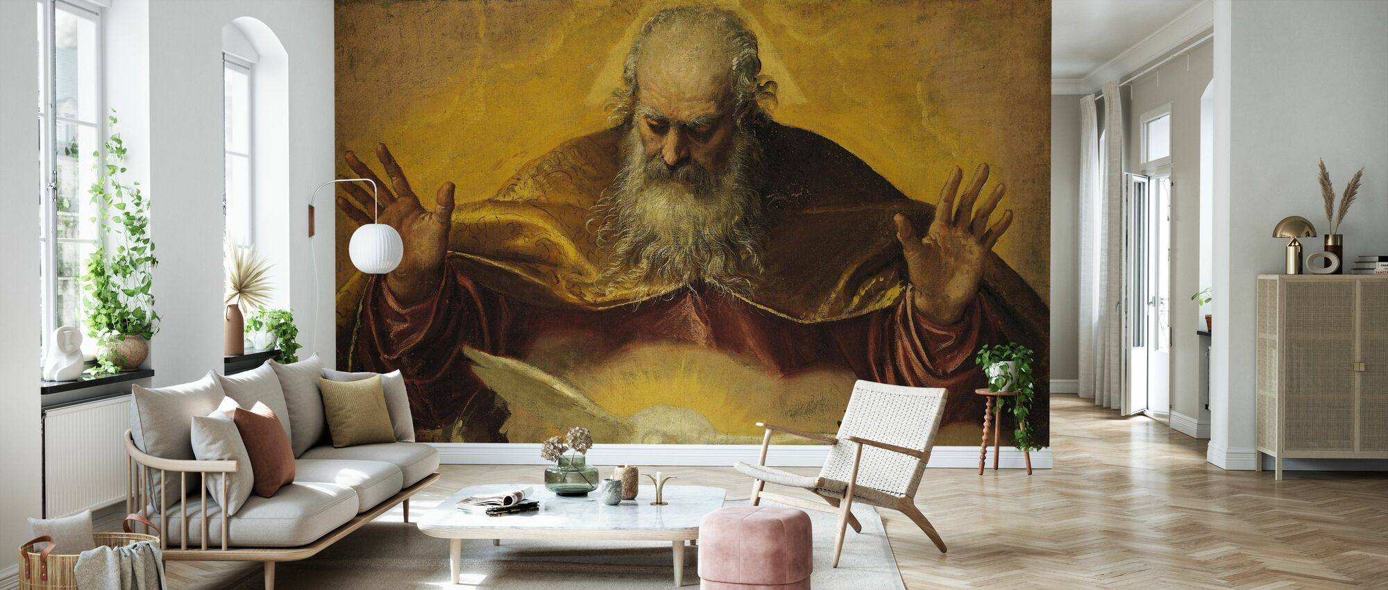 Eternal Father - Paolo Veronese - Wallpaper - Living Room