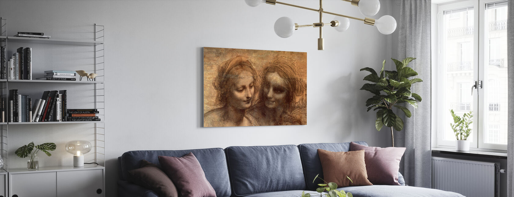 Virgin and Child - Leonardo da Vinci - Canvas print - Living Room