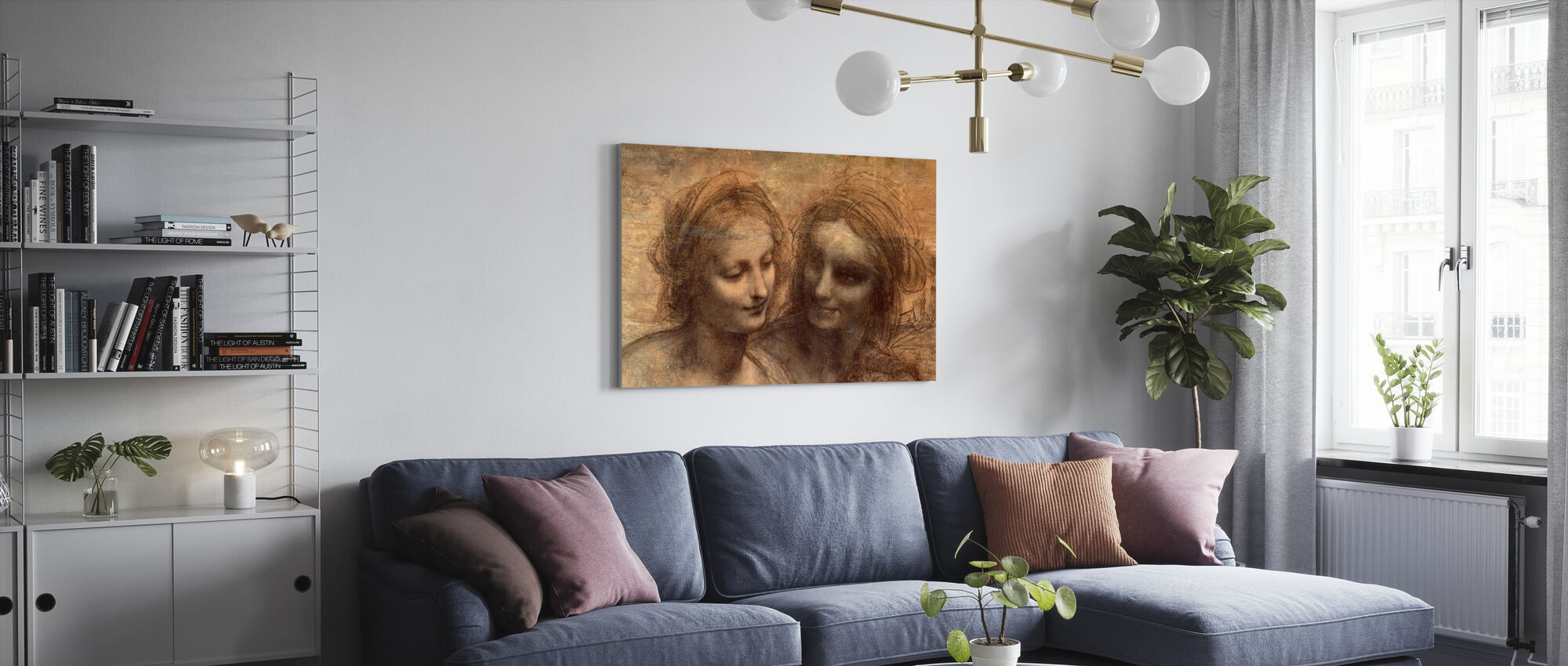 Virgin and Child - Leonardo da Vinci - Canvas print - Living Room