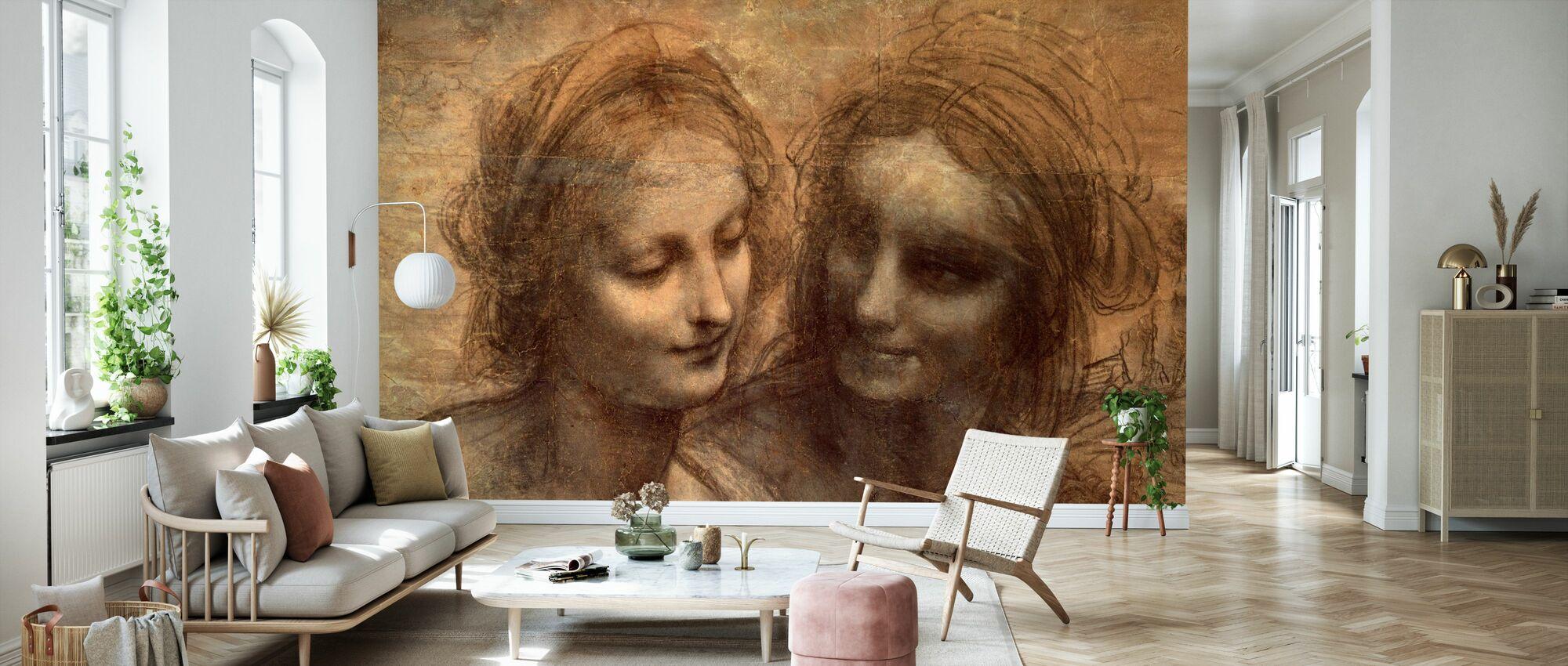 Jungfrau und Kind - Leonardo da Vinci - Tapete - Wohnzimmer