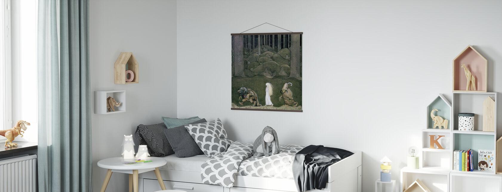 Prinsesse og trollene - John Bauer - Plakat - Barnerom