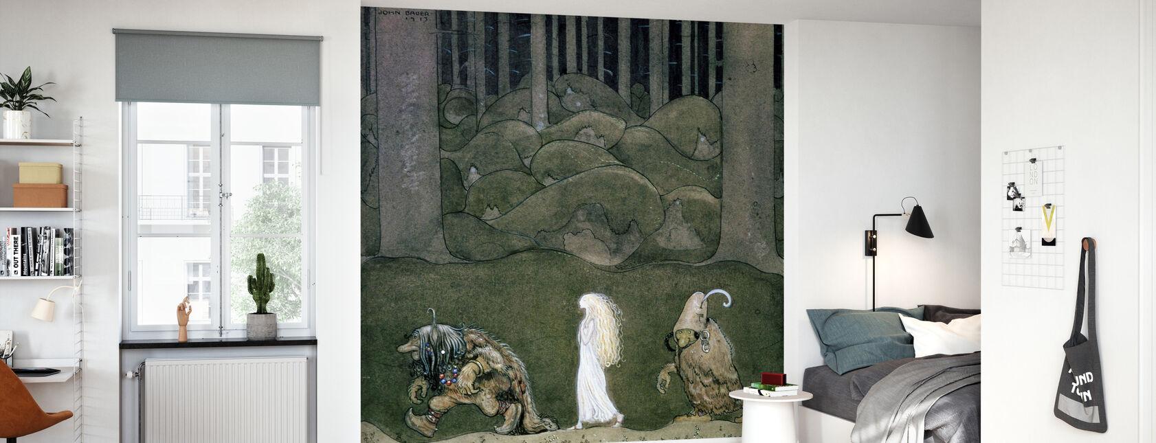 Princess and the Trolls - John Bauer - Wallpaper - Kids Room