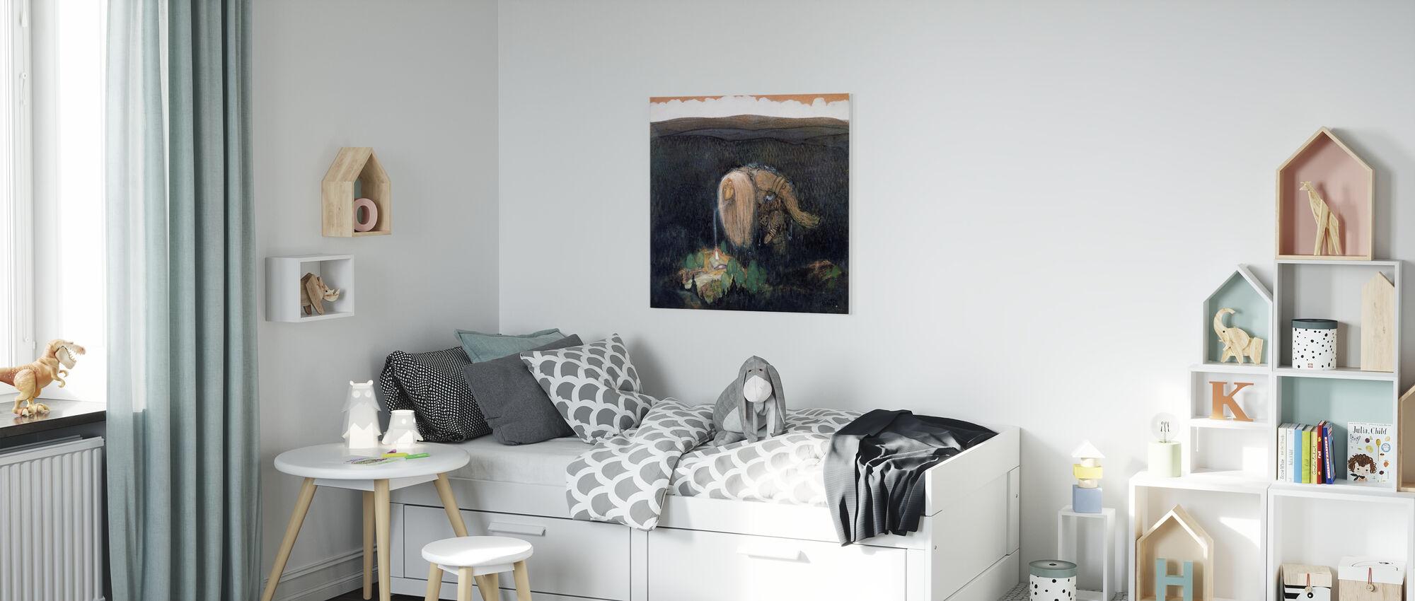 Skogstroll - John Bauer - Impression sur toile - Chambre des enfants