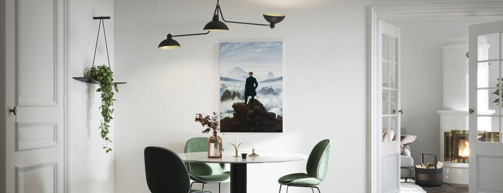 Vandrer over Tågehavet - Caspar Friedrich - Billede på lærred - Køkken