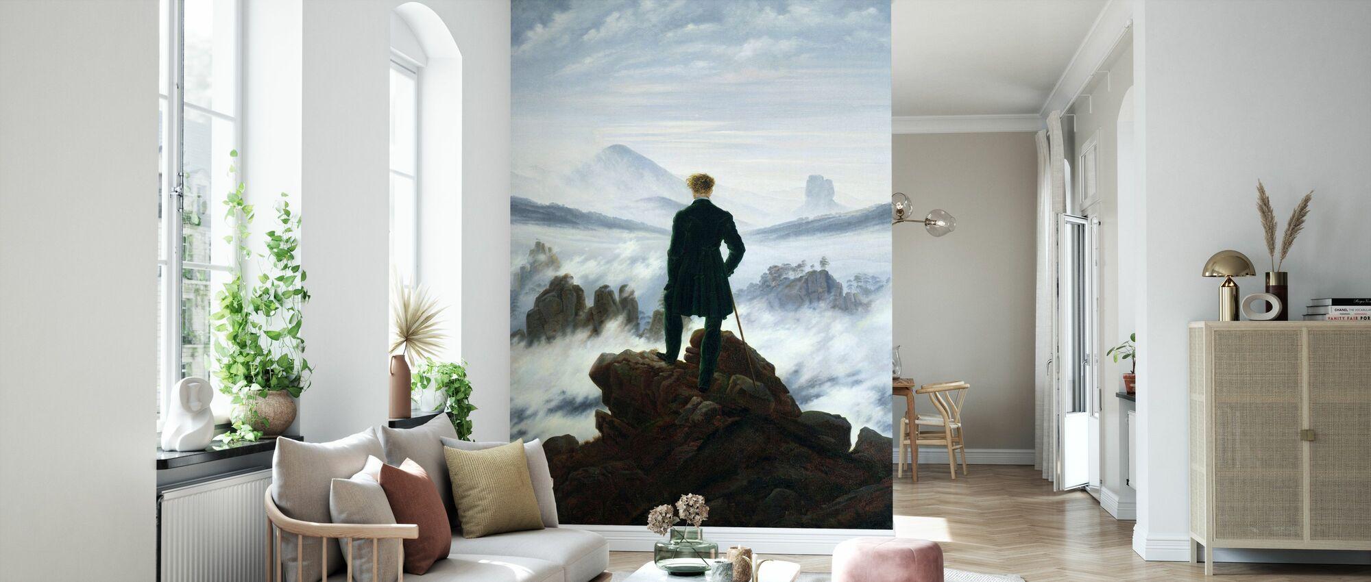 Vandrer over Tåkehavet - Caspar Friedrich - Tapet - Stue