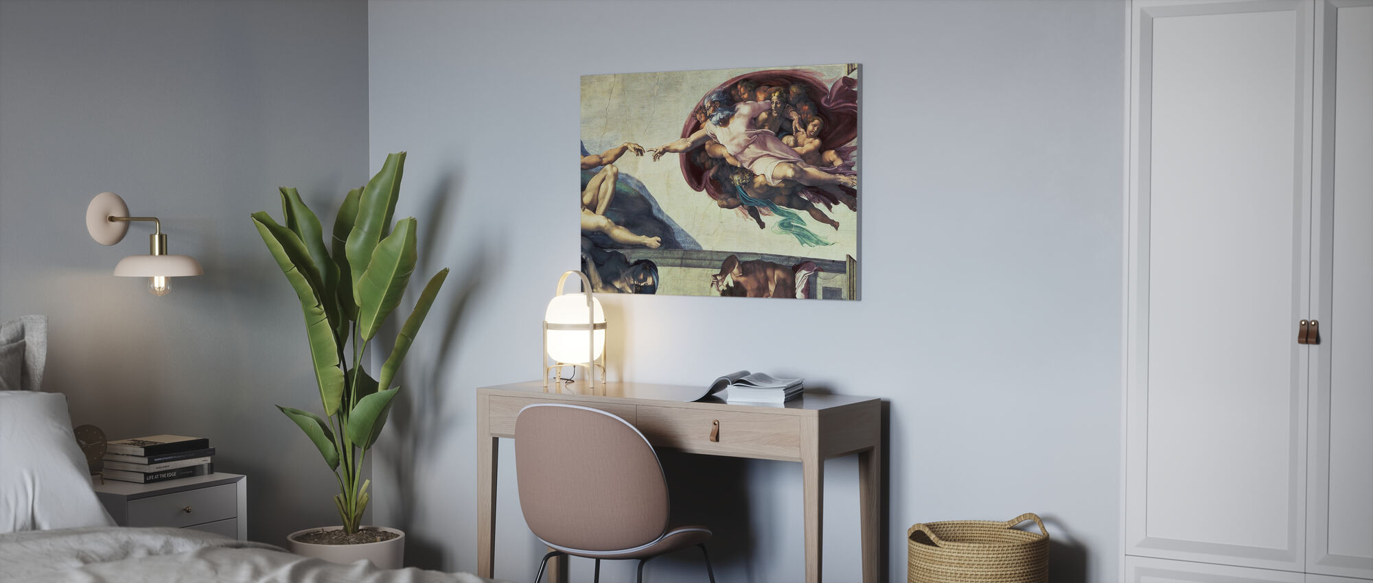 Création d'Adam - Michelangelo Buonarroti - Impression sur toile - Bureau